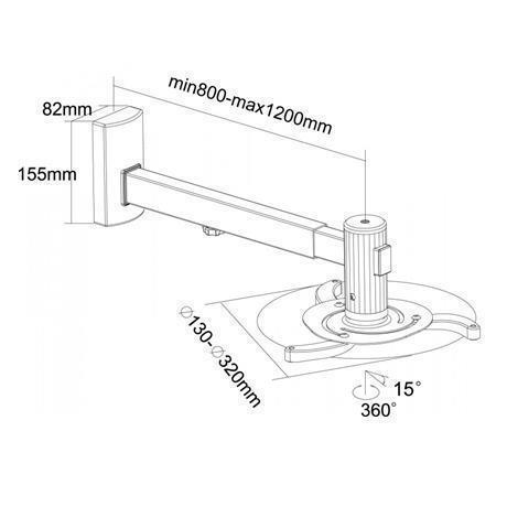 Videoproiettore da Parete Sopar Vesta 120RA Argento - 12