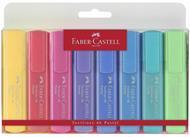 Evidenziatori Faber-Castell Textliner Pastel. Busta 8 colori pastello