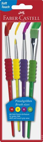 Pennelli Faber-Castell Soft. Blister 4 misure - 2, 6, 10, 12)