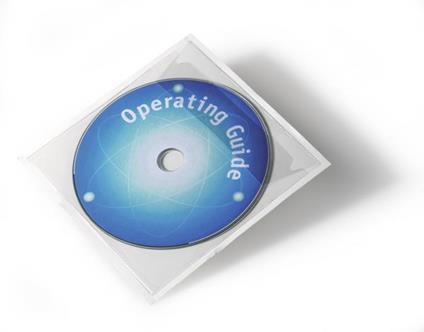 Durable POCKETFIX Cover 1 dischi Trasparente