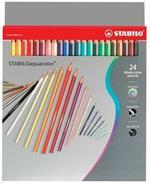Pastelli STABILO aquacolor. Astuccio 24 matite colorate acquerellabili