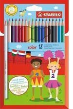 Pastelli STABILO color. Scatola in cartone 18 colori base