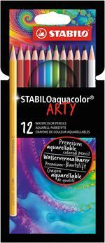 Matita colorata acquerellabile STABILO aquacolor ARTY - Astuccio 12 colori