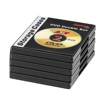 Hama 00051294 Scatola con DVD 2dischi Nero custodia CD/DVD