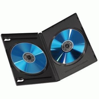 Hama 00051294 Scatola con DVD 2dischi Nero custodia CD/DVD - 2