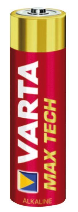 Batterie Alcaline Varta AA 1.5Vmax Tech 4-Vescica - 11