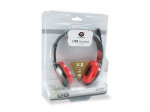 Conceptronic CCHATSTARU2R cuffia e auricolare Padiglione auricolare Rosso - 2
