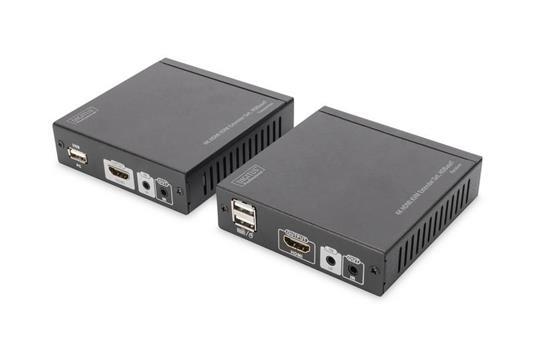 Digitus DS-55502 moltiplicatore AV Trasmettitore e ricevitore AV Nero