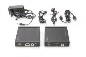 Digitus DS-55502 moltiplicatore AV Trasmettitore e ricevitore AV Nero - 3