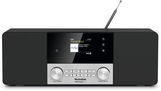 TechniSat DigitRadio 4 C Personale Digitale Nero, Argento