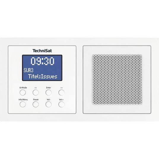 TechniSat UP 1 DAB+ Radio da incasso Bluetooth, DAB+, FM Bianco