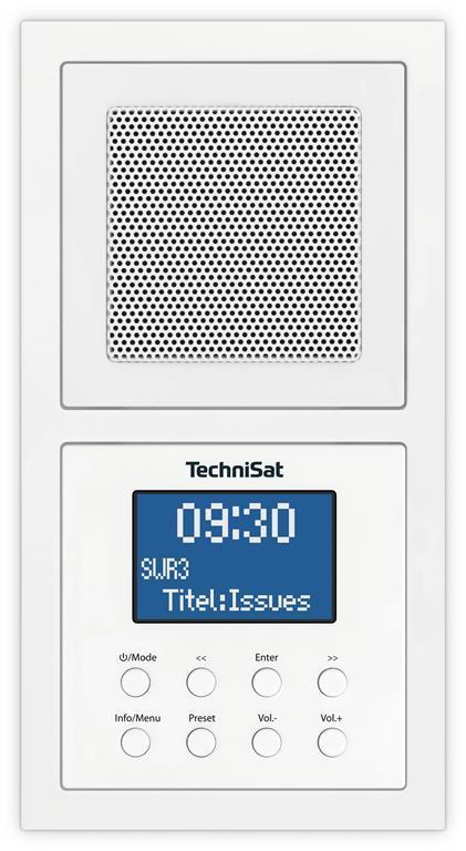 TechniSat UP 1 DAB+ Radio da incasso Bluetooth, DAB+, FM Bianco - 2