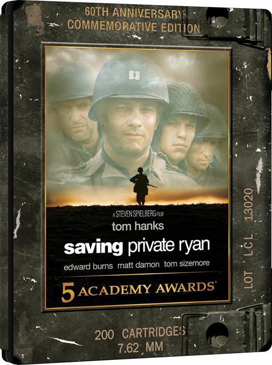 Salvate il soldato Ryan. Steelbook (2 Blu-ray + Blu-ray Ultra HD 4K) di Steven Spielberg - Blu-ray + Blu-ray Ultra HD 4K