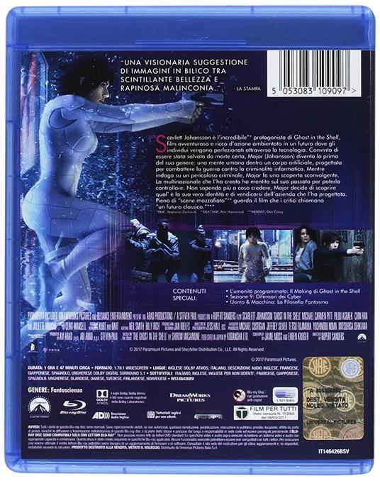 Ghost in the Shell (Blu-ray) di Rupert Sanders - Blu-ray - 2