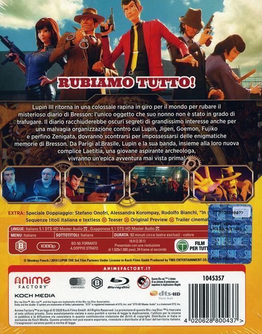 Lupin III. The First (Blu-ray) di Takashi Yamazaki - Blu-ray - 2