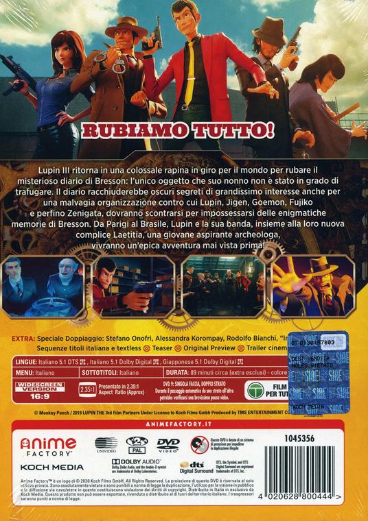 Lupin III. The First (DVD) di Takashi Yamazaki - DVD - 3