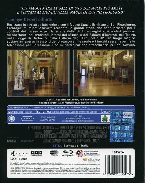 Ermitage. Il potere dell'arte (Blu-ray) di Toni Servillo - Blu-ray - 2