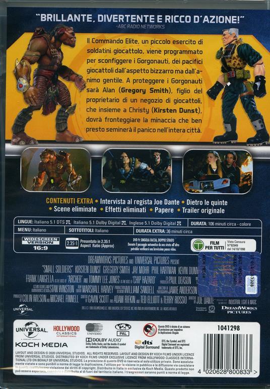 Small Soldiers (DVD) di Joe Dante - DVD - 2