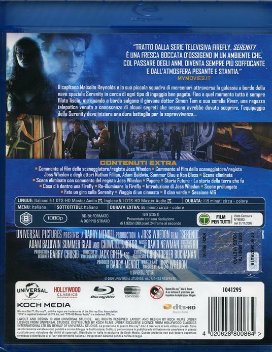 Serenity (Blu-ray) di Joss Whedon - Blu-ray - 2