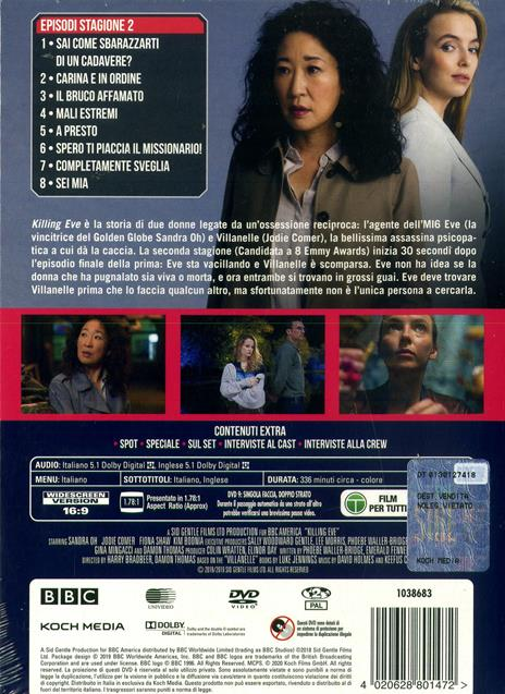 Killing Eve. Stagione 2. Serie TV ita (4 DVD) di Damon Thomas,Lisa Brühlmann,Francesca Gregorini - DVD - 2