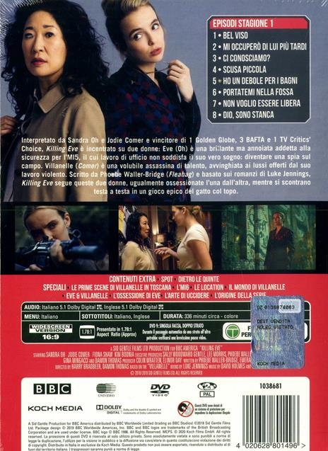 Killing Eve. Stagione 1. Serie TV ita (4 DVD) di Damon Thomas,Jon East,Harry Bradbeer - DVD - 2