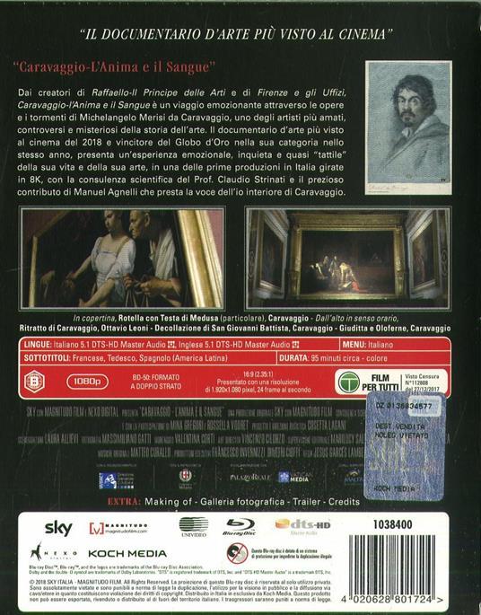 Caravaggio. L'anima e il sangue (Blu-ray) di Jesus Garces Lambert - Blu-ray - 2