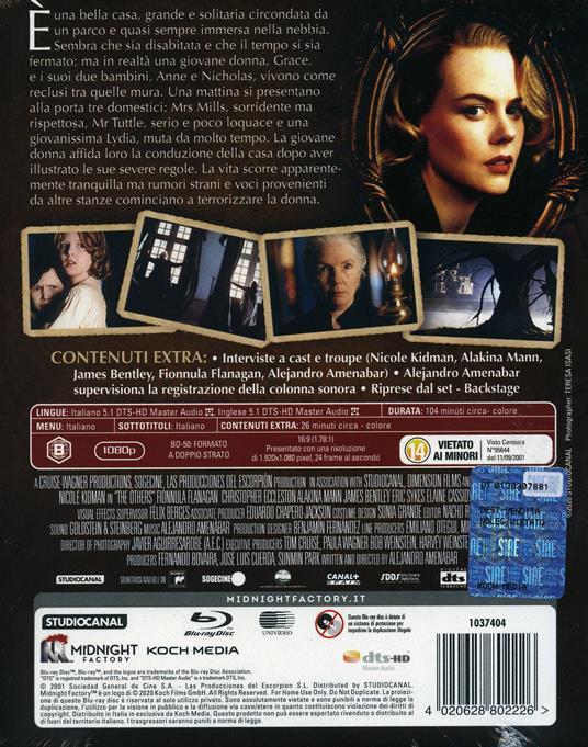 The Others (Blu-ray) di Alejandro Amenábar - Blu-ray - 2