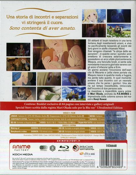 Maquia. Ultralimited Edition (2 Blu-ray) di Mari Okada - Blu-ray - 2