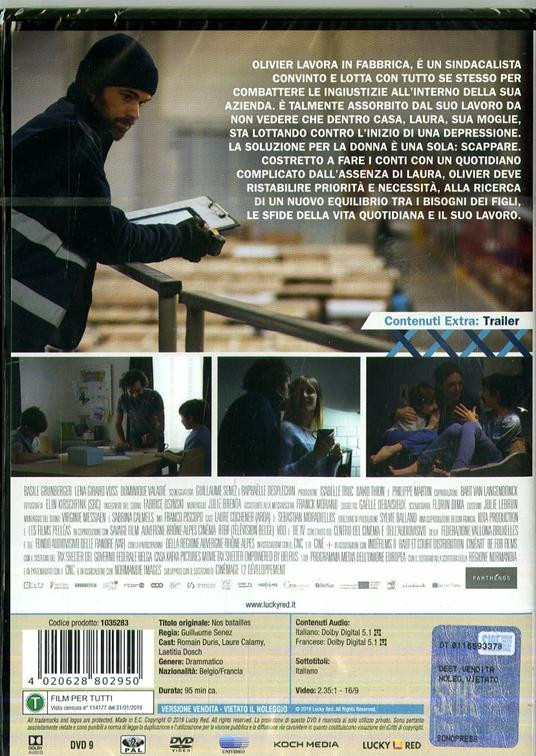 Le nostre battaglie (DVD) di Guillaume Senez - DVD - 2