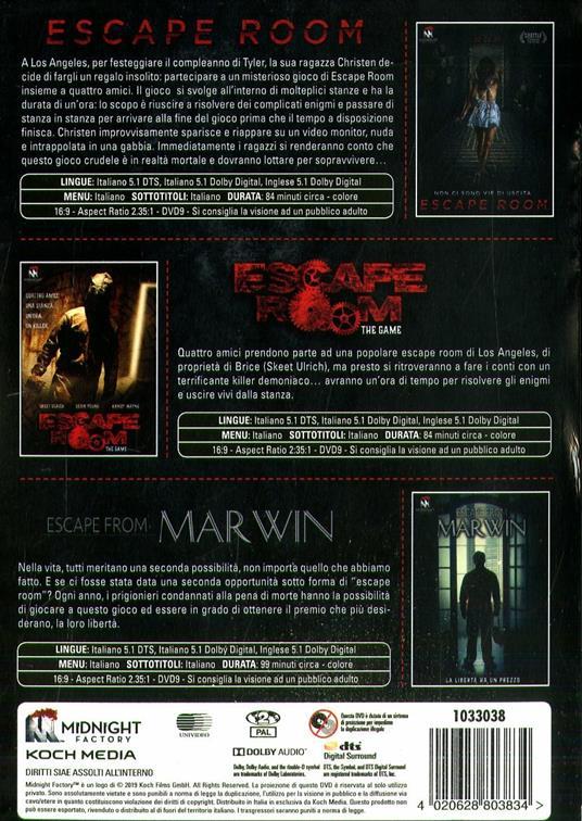 Escape Room Trilogy (3 DVD) di Peter Dukes,Jordi Castejón,Will Wernick - 2