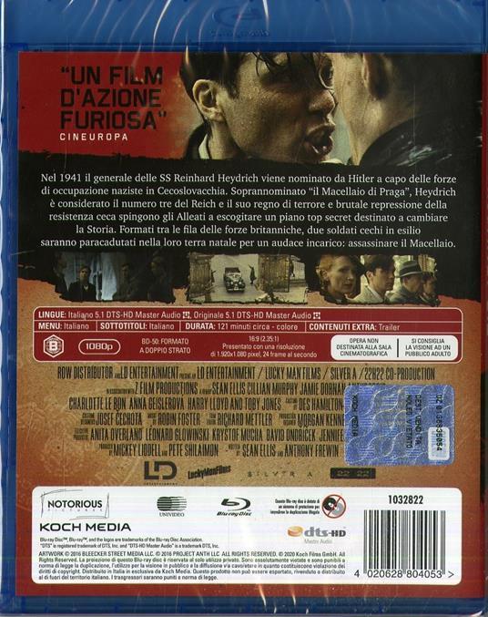 Missione Anthropoid (Blu-ray) di Sean Ellis - Blu-ray - 2