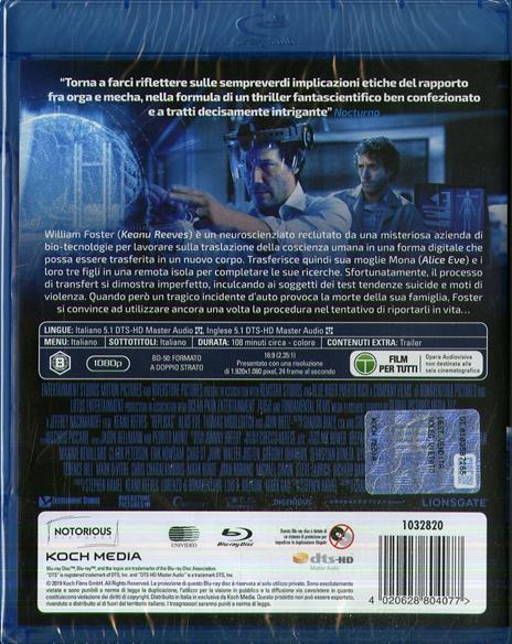 Replicas (Blu-ray) di Jeffrey Nachmanoff - Blu-ray - 2