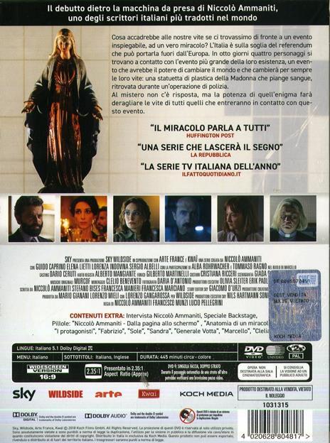 Il miracolo. Serie TV ita. Con Booklet (3 DVD) di Francesco Munzi,Lucio Pellegrini - DVD - 2