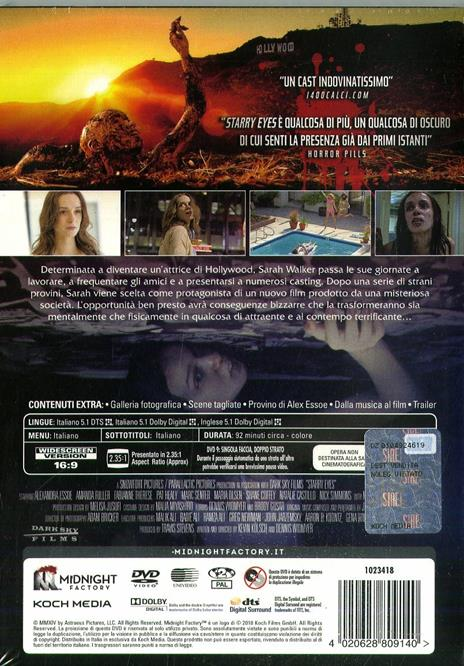 Starry Eyes. Limited Edition con Booklet (DVD) di Kevin Kolsch,Dennis Widmyer - DVD - 2