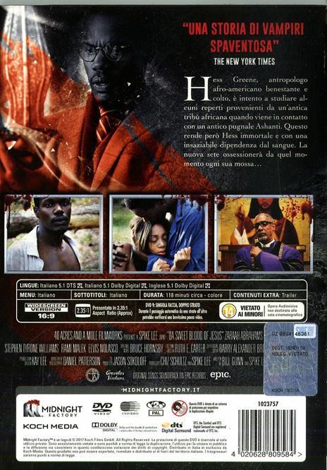 Il sangue di Cristo. Da Sweet Blood of Jesus. Limited Edition con Booklet (DVD) di Spike Lee - DVD - 2