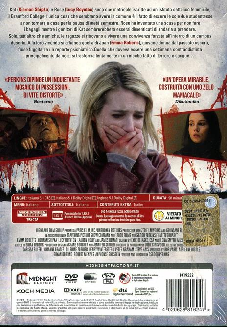 February. L'innocenza del male. Limited Edition con Booklet (DVD) di Oz Perkins - DVD - 2