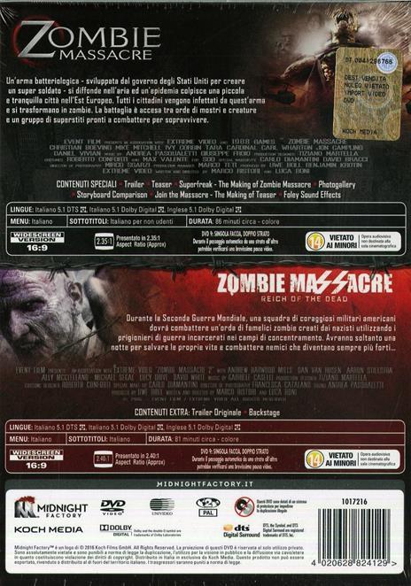 Zombie Massacre Collection (2 DVD) di Luca Boni,Marco Ristori - 2