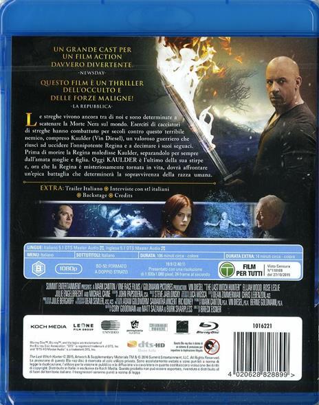 The Last Witch Hunter. L'ultimo cacciatore di streghe di Breck Eisner - Blu-ray - 2
