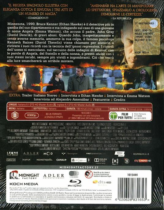 Regression<span>.</span> Limited Edition di Alejandro Amenabar - Blu-ray - 8