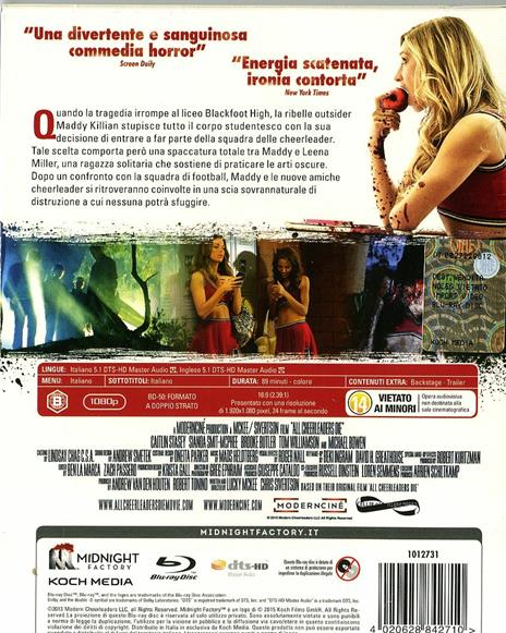 All Cheerleaders Die<span>.</span> Limited Edition di Lucky McKee,Chris Sivertson - Blu-ray - 2