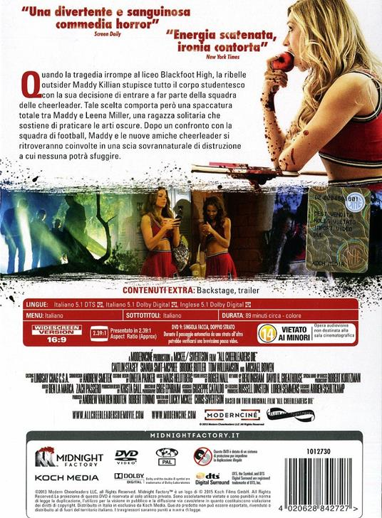 All Cheerleaders Die<span>.</span> Limited Edition di Lucky McKee,Chris Sivertson - DVD - 2
