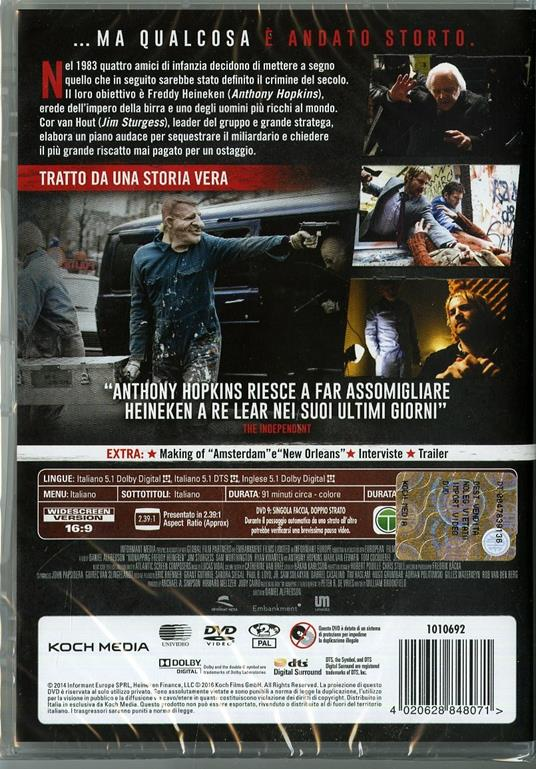 Il caso Freddy Heineken di Daniel Alfredson - DVD - 2