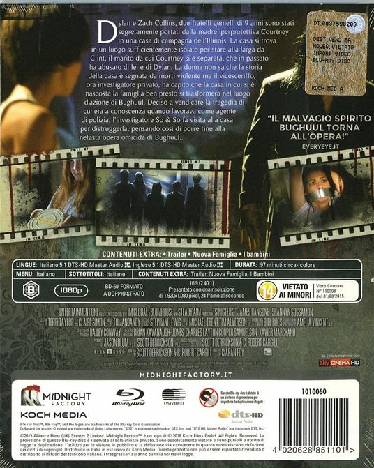 Sinister 2<span>.</span> Edizione limitata di Ciarán Foy - Blu-ray - 2