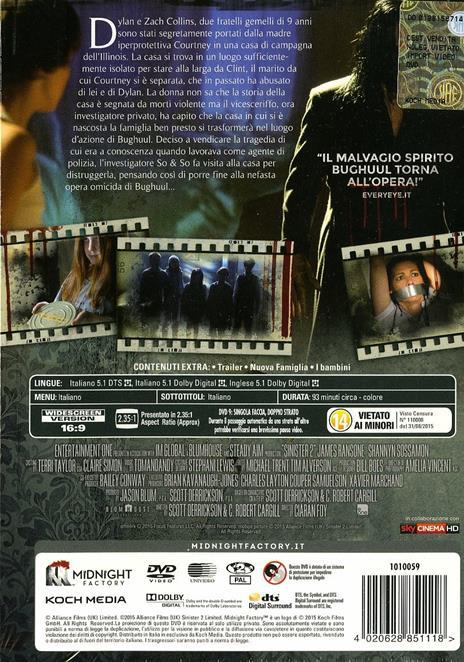 Sinister 2<span>.</span> Edizione limitata di Ciarán Foy - DVD - 2