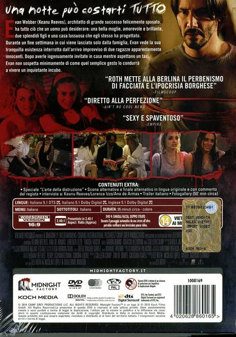 Knock Knock<span>.</span> Limited Edition di Eli Roth - DVD - 2