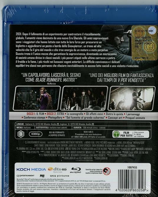 Snowpiercer (2 Blu-ray) di Joon-Ho Bong - Blu-ray - 3