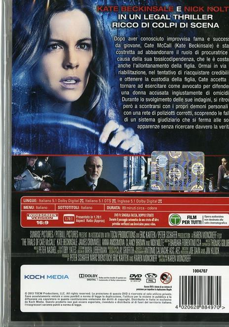 Cate McCall. Il confine della verità di Karen Moncrieff - DVD - 2