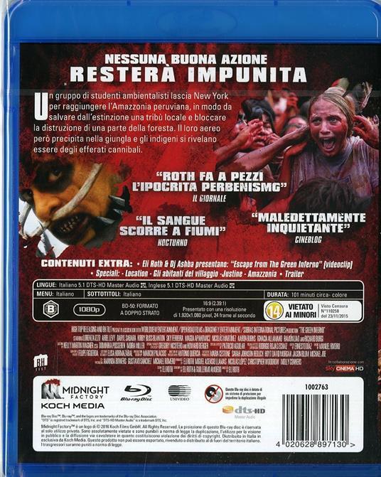 The Green Inferno di Eli Roth - Blu-ray - 2