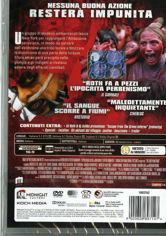 The Green Inferno di Eli Roth - DVD - 2