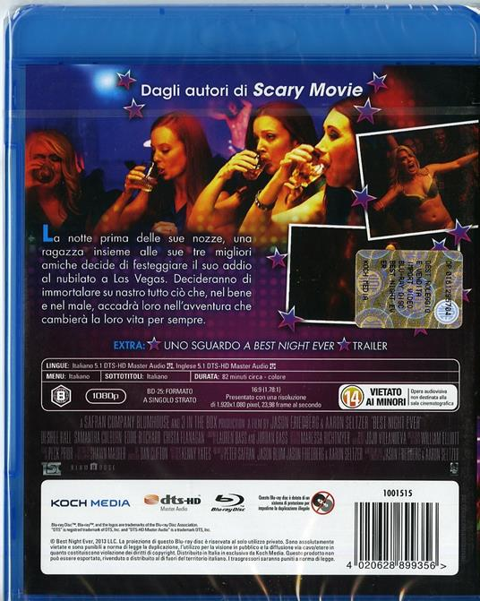 Best Night Ever di Aaron Seltzer,Jason Friedberg - Blu-ray - 2